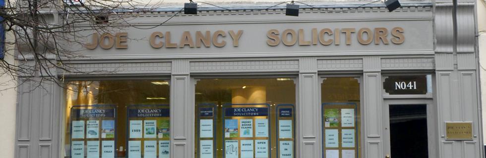Slide image of Joe Clancy Solicitors